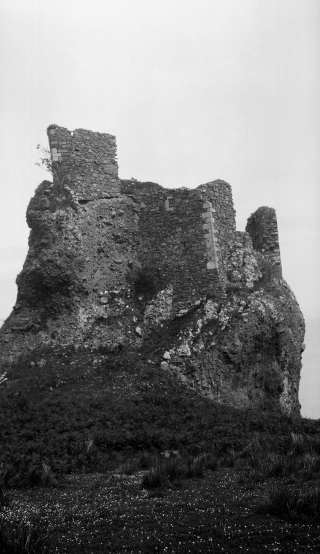 Brochel Castle, Raasay. From west.