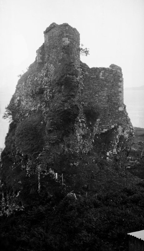 Brochel Castle, Raasay. From north west.