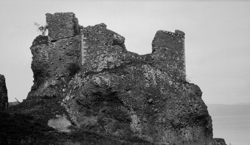 Brochel Castle, Raasay. From south west.