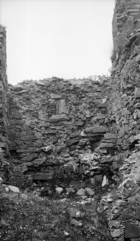 Brochel Castle, Raasay. Interior
