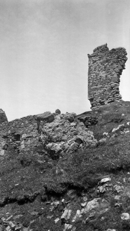 Skye, Duntulm Castle. General view from South West.