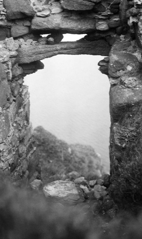 Skye, Duntulm Castle. Seagate from inside.