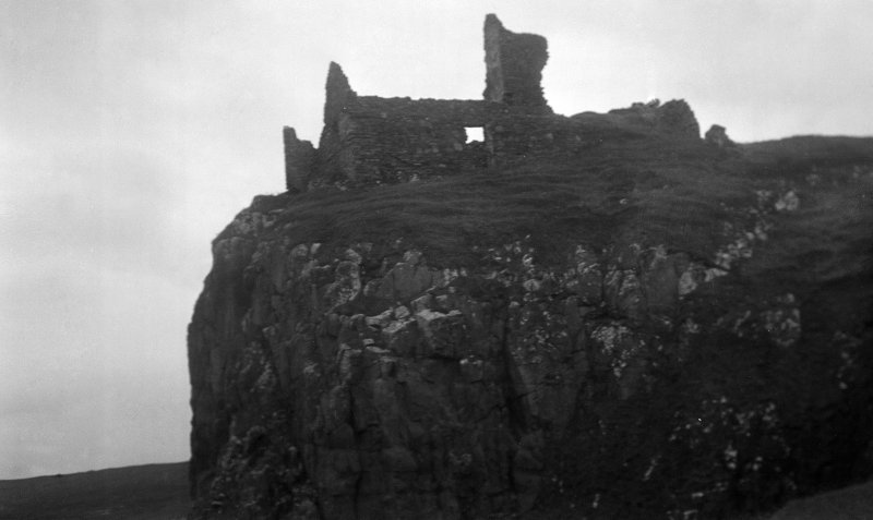 General view of Duntulm Castle Skye, facing north east.