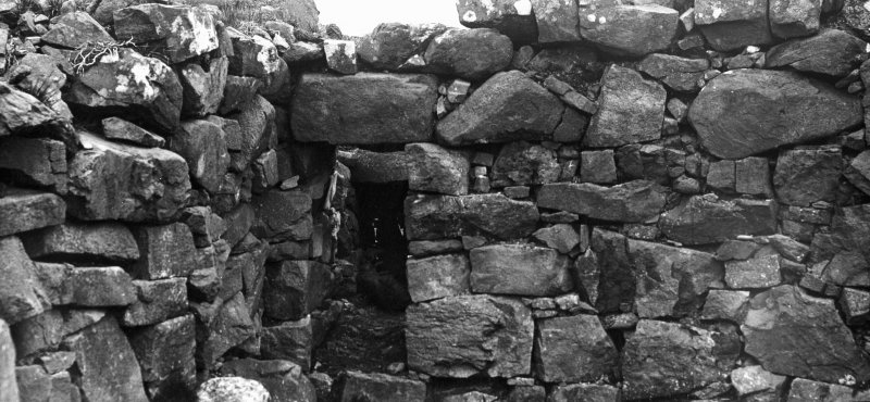 Dun Fiadhairt, Skye. Second 'entrance' to broch at east side. On the left a later cross-wall.