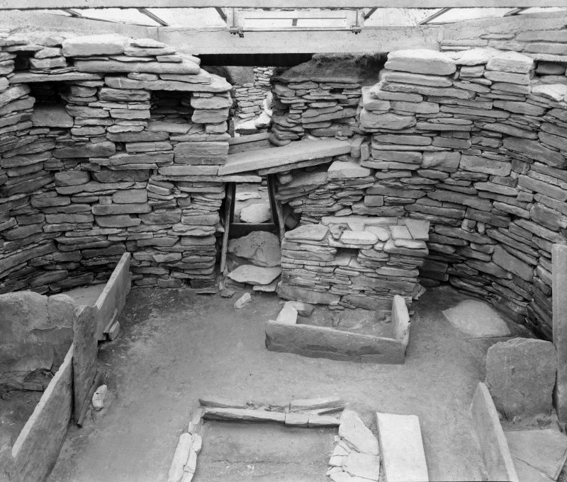 View of interior, Skara Brae.