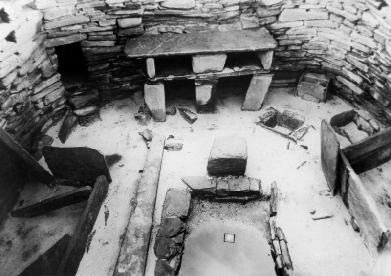 Interior of house 7, Skara Brae.