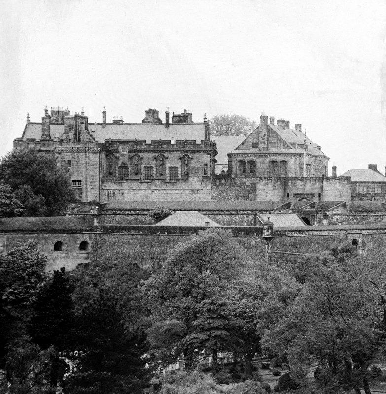 Stirling Castle. General view from South.