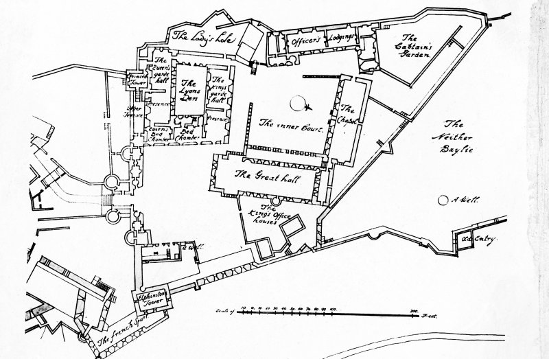 Photographic copy of plan of Stirling Castle.