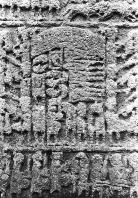 Sueno's Stone. Detail of lower portion of reverse.