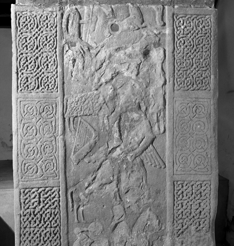 Detail of reverse of Nigg Pictish cross slab.