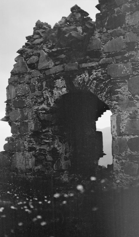 Skye, Kyleakin, Caisteal Maol. Detail of arch.