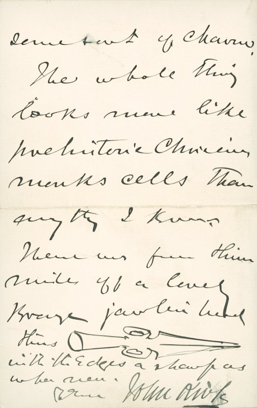 Extract from letter by Sir John Kirk to David Christison, 5 Jan 1893.Page 4 of 4.