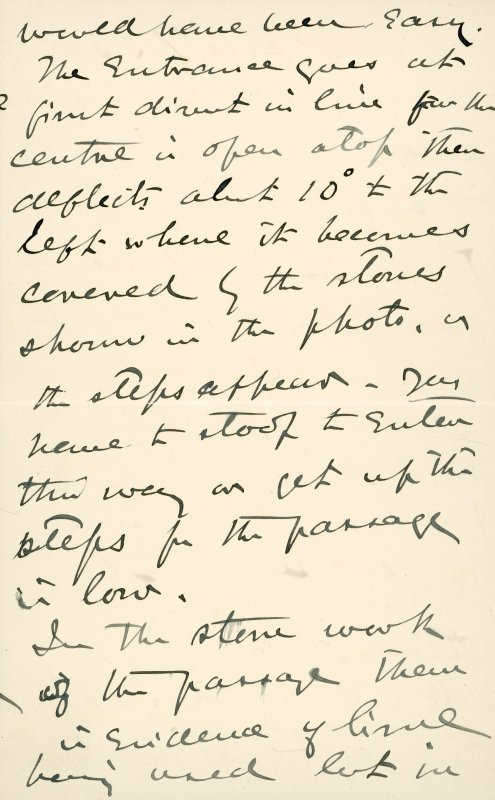Extract from letter by Sir John Kirk to David Christison. 14 Jan 1893. Page 3 of 12.