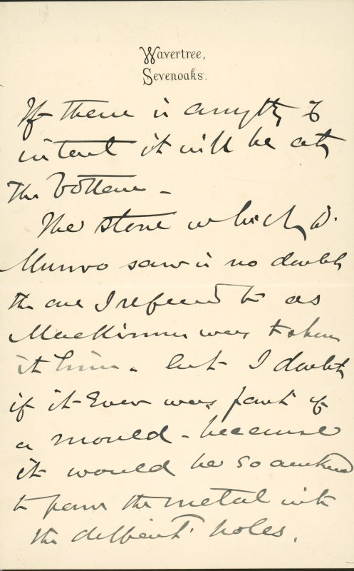 Extract from letter by Sir John Kirk to David Christison. 14 Jan 1893. Page 5 of 12.