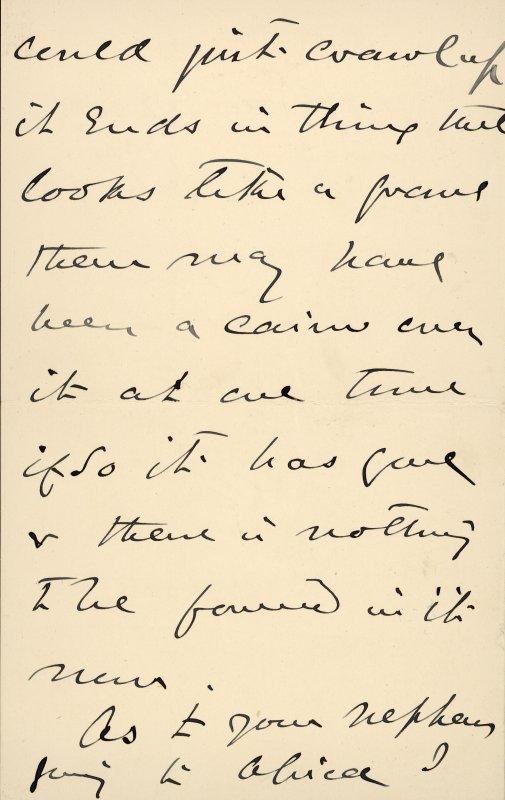 Extract from letter by Sir John Kirk to David Christison. 14 Jan 1893. Page 8 of 12.