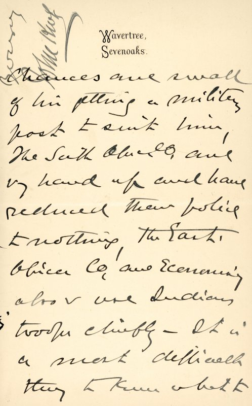 Extract from letter by Sir John Kirk to David Christison. 14 Jan 1893. Page 9 of 12.