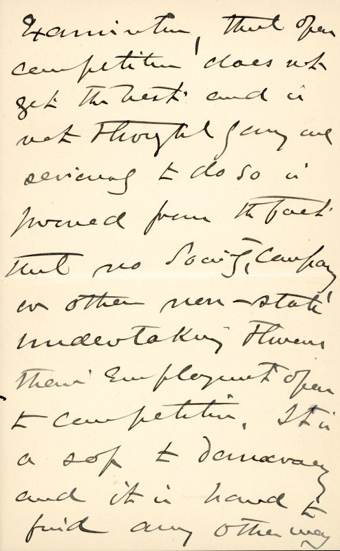 Extract from letter by Sir John Kirk to David Christison. 14 Jan 1893. Page 11 of 12.