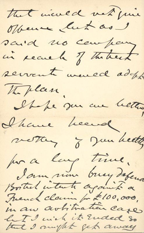 Extract from letter by Sir John Kirk to David Christison. 14 Jan 1893. Page 12 of 12.