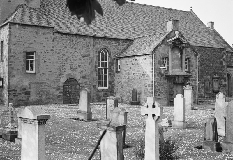 View of Prestongrange Parish Church and burial ground, Prestonpans, from S.