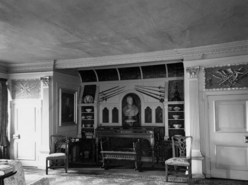 Interior. View of High drawing room showing James VI's cradle.