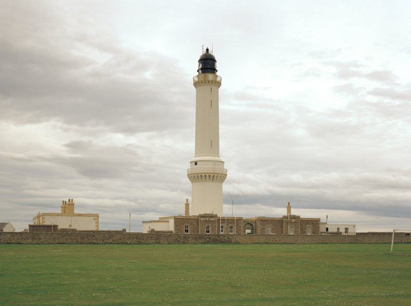 Aberdeen, Greyhope Road, Girdleness Lighthouse. General view of tower from west.
