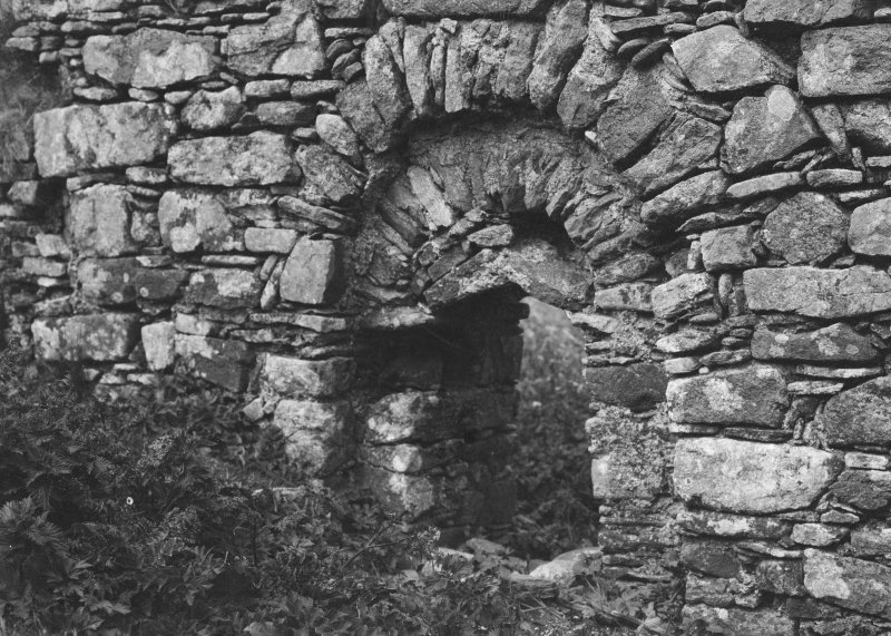 Detail of opening within chapel at Cille-Bharra.