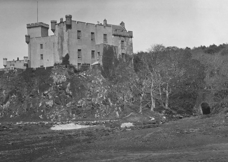 Skye, Dunvegan Castle. General view from South.