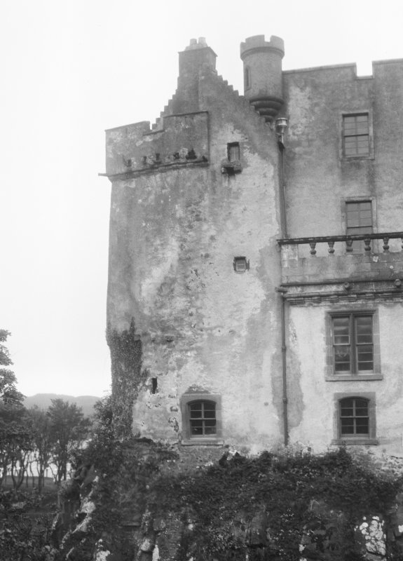 Skye, Dunvegan Castle. General view of the Fairy Tower.
