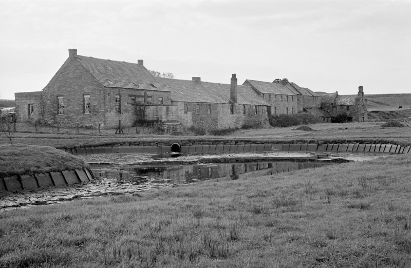 General view of Millbank foundry and meal mill, Thurso, from north.