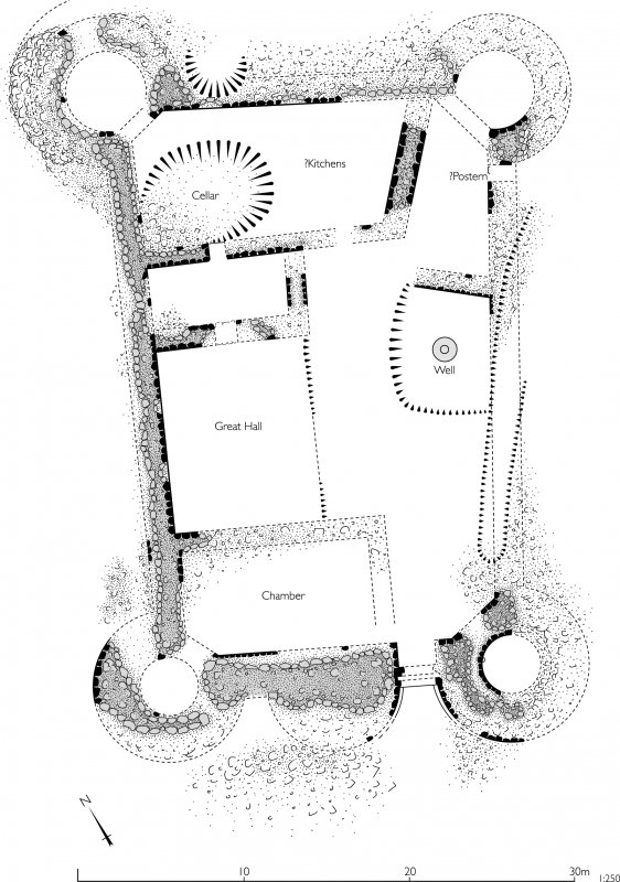 Tibbers Castle plan. Copy of Illustrator file GV005523 file at 300dpi