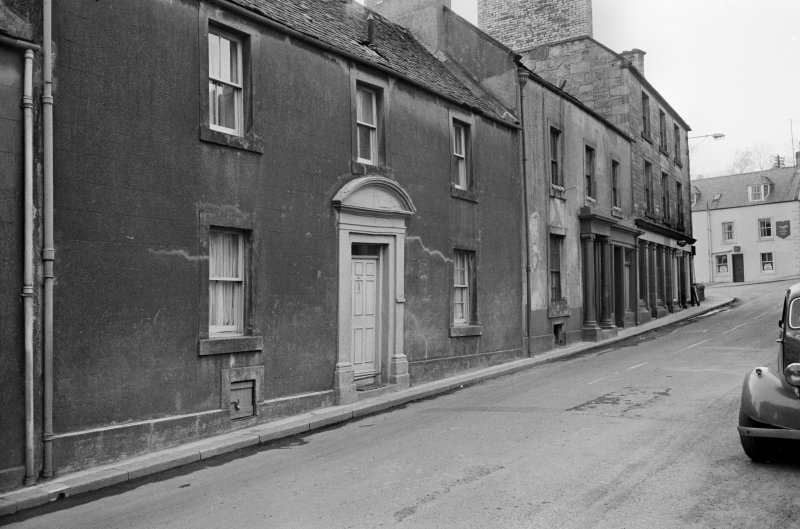 View of 13 and 15 Castle Street, Duns, from north