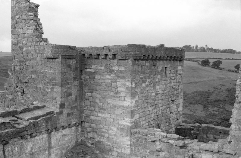 View of ramparts, Crichton Castle