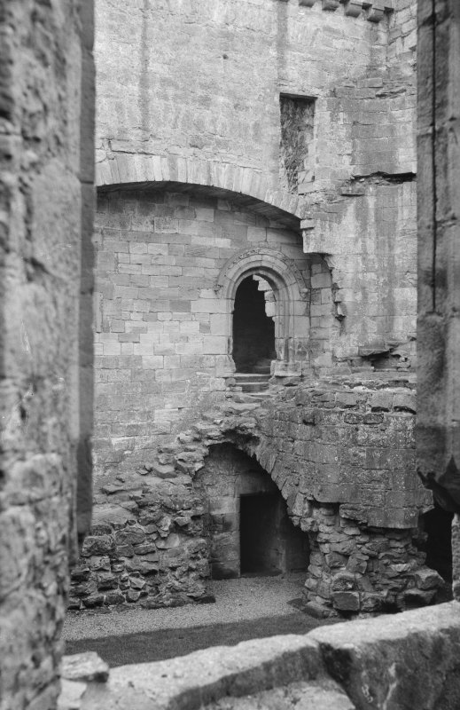 Interior view of Crichton Castle
