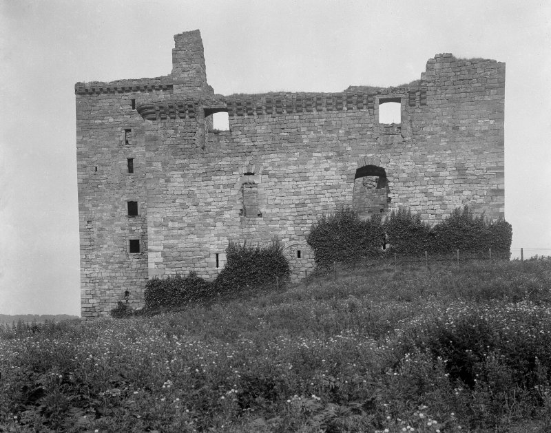 View of Crichton Castle from S