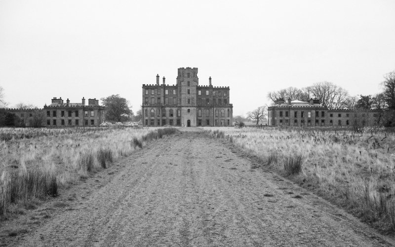 View from South of Gordon Castle during demolition