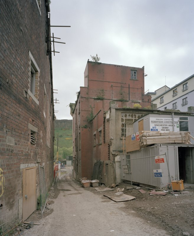 Edinburgh, 93 Holyrood Road, Holyrood Brewery View from north of rear of 'Clock Tower' building, taken during re-development of site