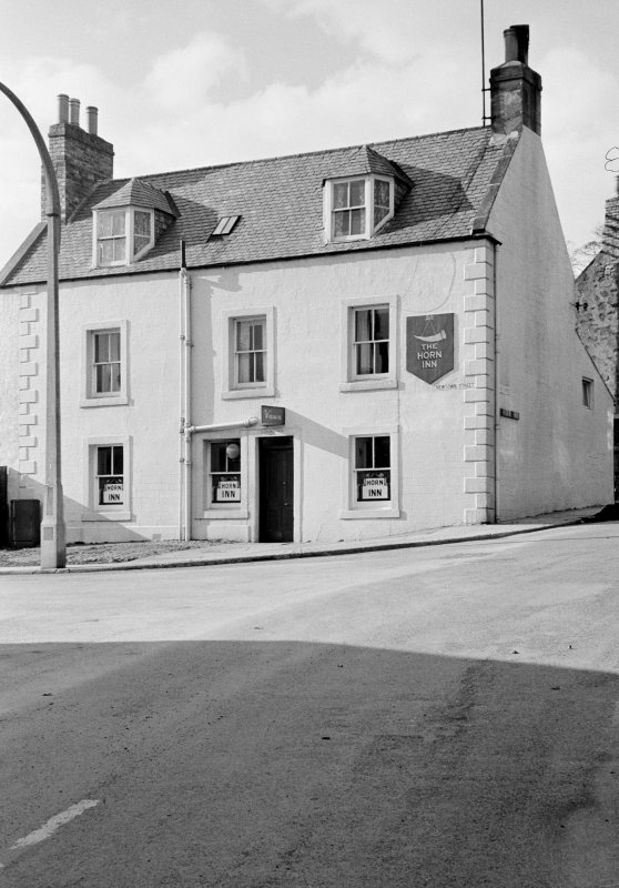 View from south east of Horn Inn, 2 Newtown Street, Duns