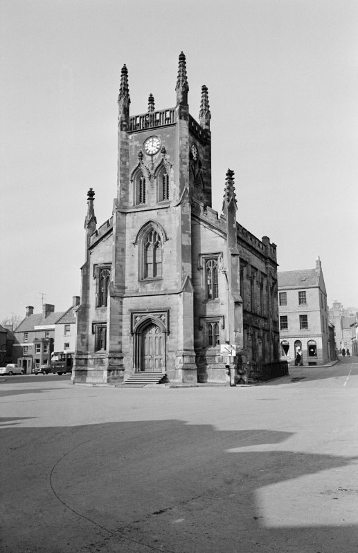 View from south west of Town Hall, Market Square, Duns