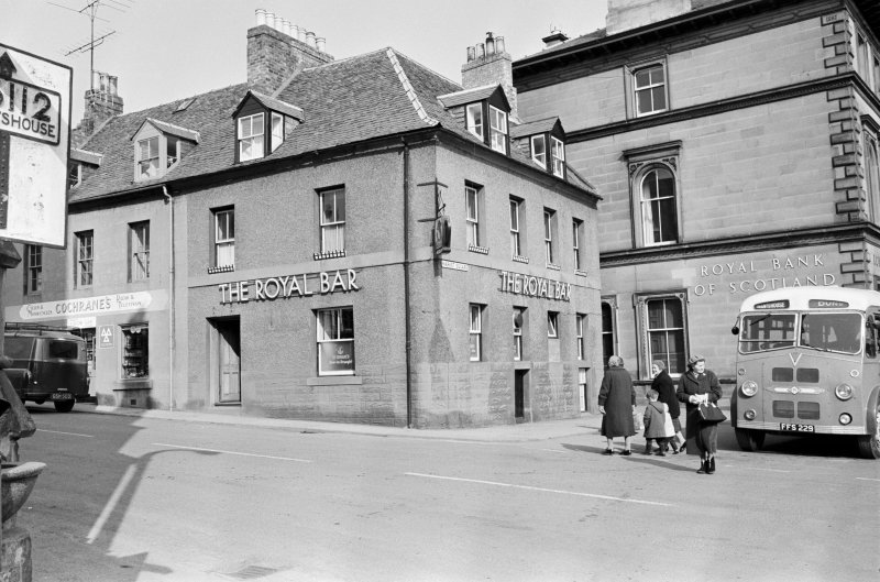 View 15 Market Square, Duns showing The Royal Bar and Cochrane's shop