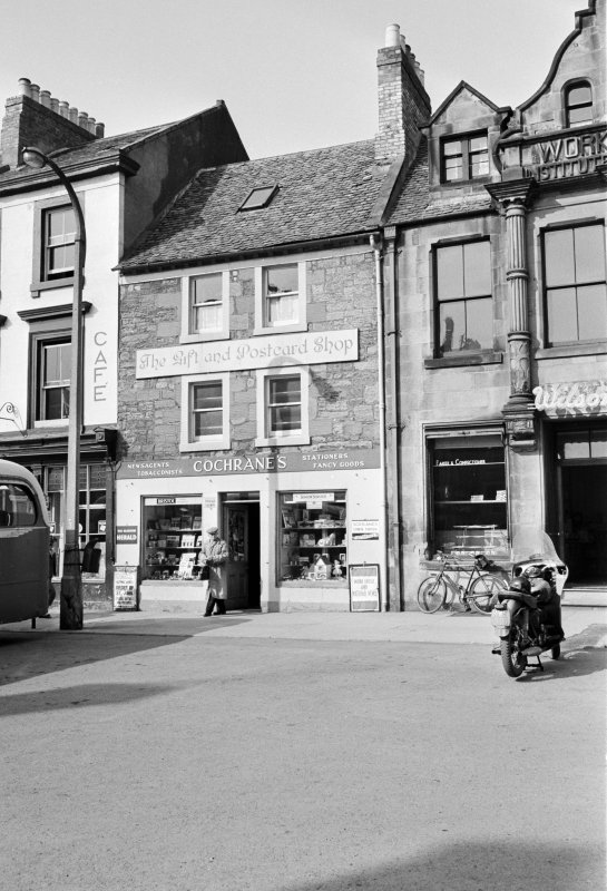 View from south of 27 Market Square, Duns showing Cochrane's 'The Gift and Postcard Shop'