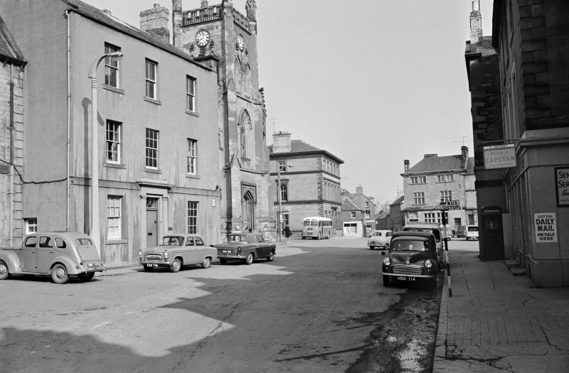 View of 43 Market Square, Duns, from south west