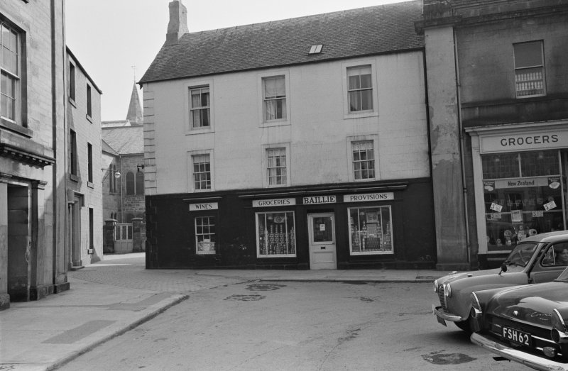 View of 5 Market Square, Duns showing the premises of Baillie Wines Groceries and Provisions