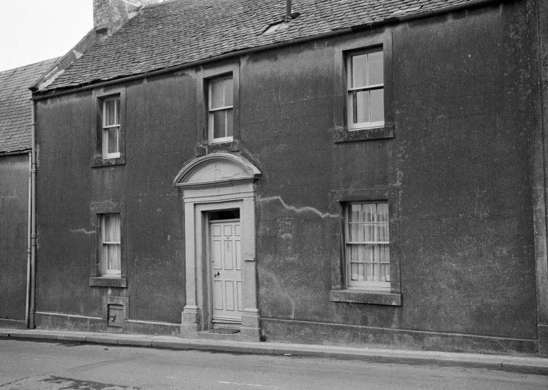 View of 13 Castle Street, Duns, from north