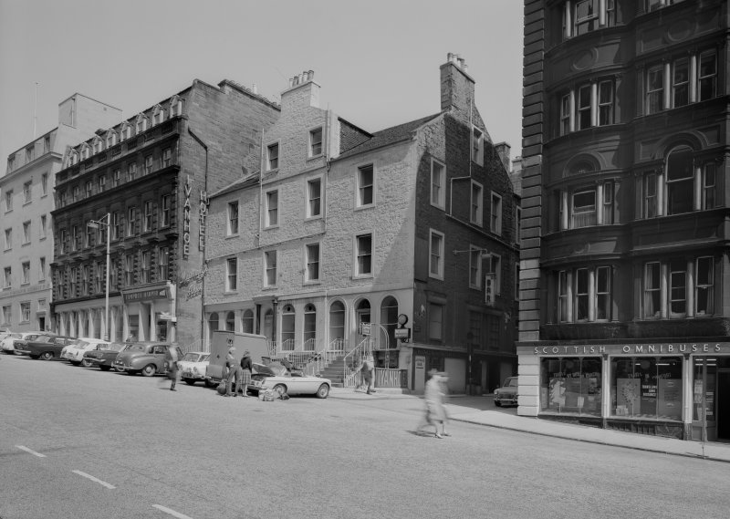 View of Ivanhoe Hotel, South St. David Street, Edinburgh from south west