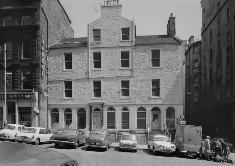 View of Ivanhoe Hotel, South St. David Street, Edinburgh from west
