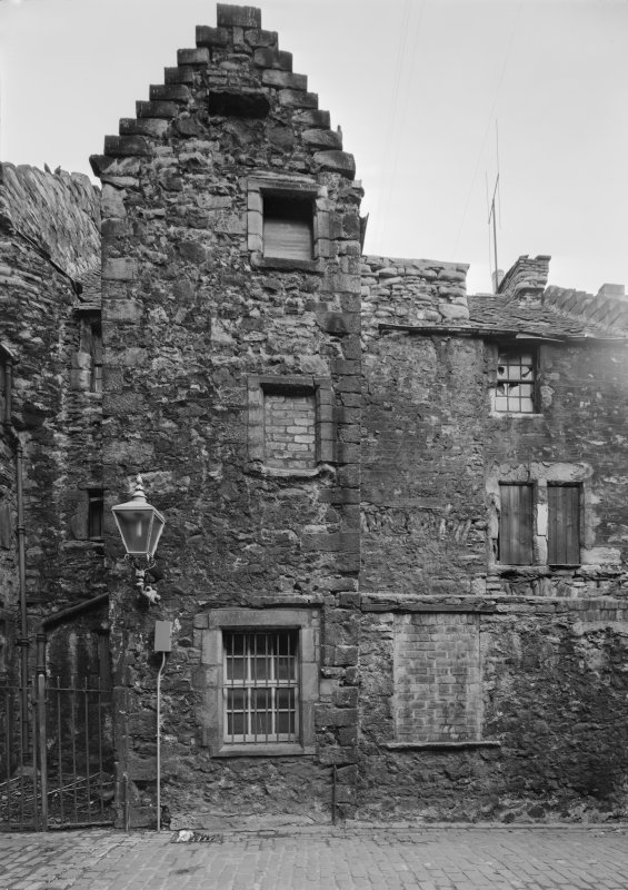 View of West wall of Acheson House from Bakehouse Close, Edinburgh