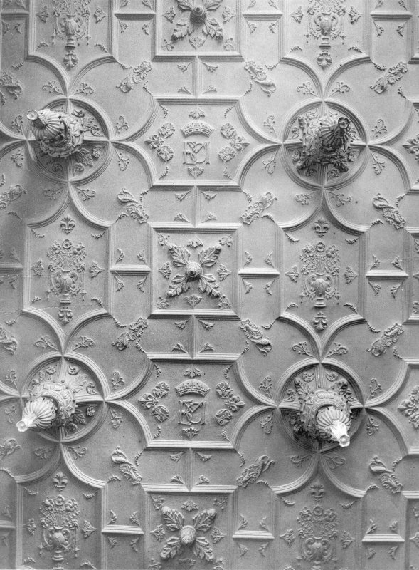 Detail of ceiling in drawing room.