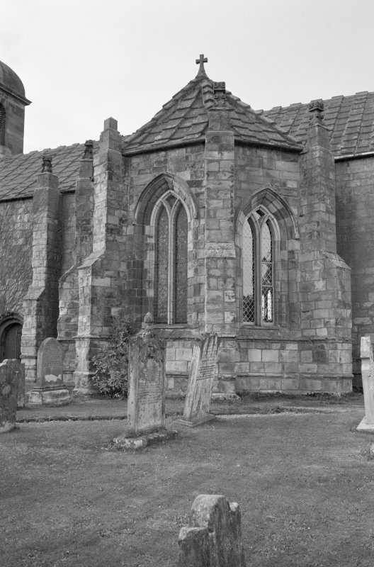 View of south transept from south, St Mary's Church, Ladykirk