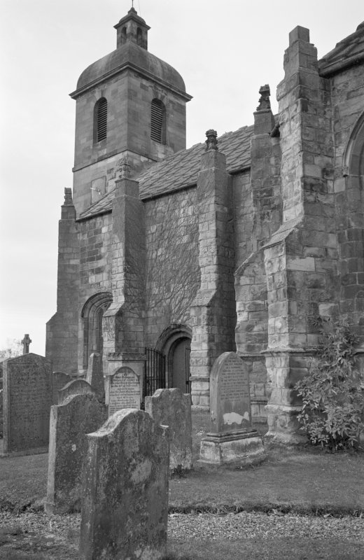 View of west end from south east, St Mary's Church, Ladykirk