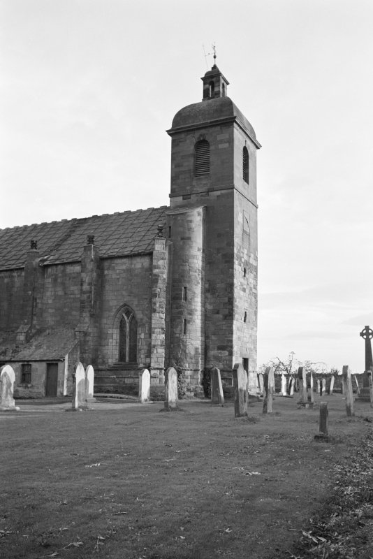 View of west end from north of St Mary's Church, Ladykirk